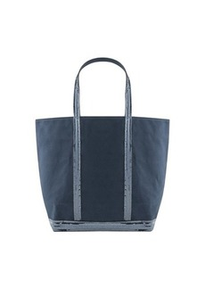 Vanessa Bruno Canvas and Sequins L zipped Cabas Tote