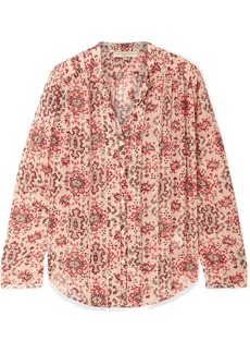 Vanessa Bruno Cunac Printed Silk-crepon Blouse