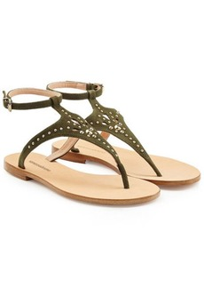 Vanessa Bruno Embellished Suede Sandals