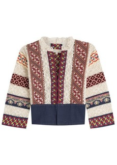 Vanessa Bruno Embroidered Cotton Jacket