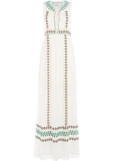 Vanessa Bruno Embroidered Silk Maxi Dress