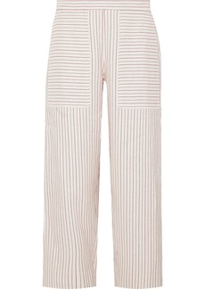 Vanessa Bruno Galien Cropped Striped Woven Pants