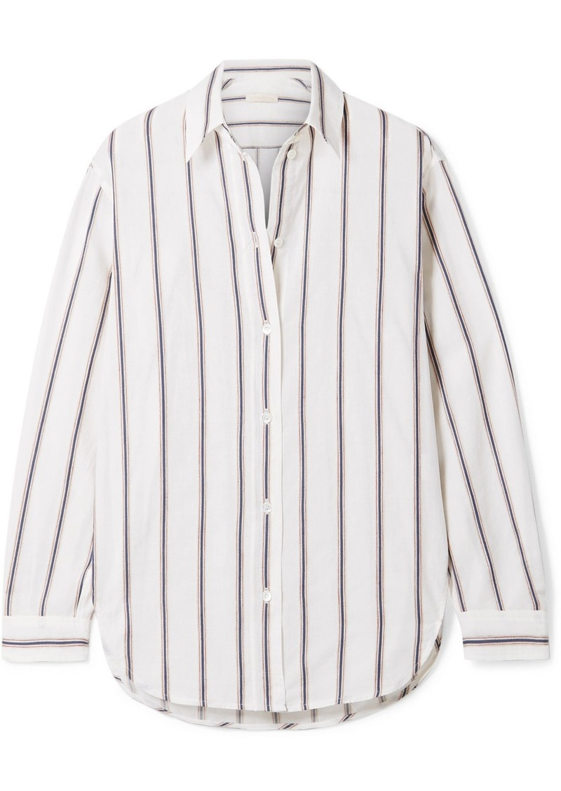 Vanessa Bruno Helianne Striped Cotton And Linen-blend Shirt