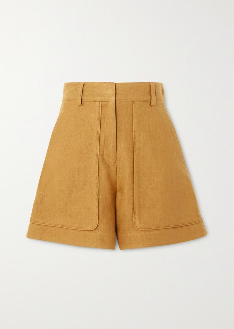 Vanessa Bruno Iala Linen And Cotton-blend Shorts