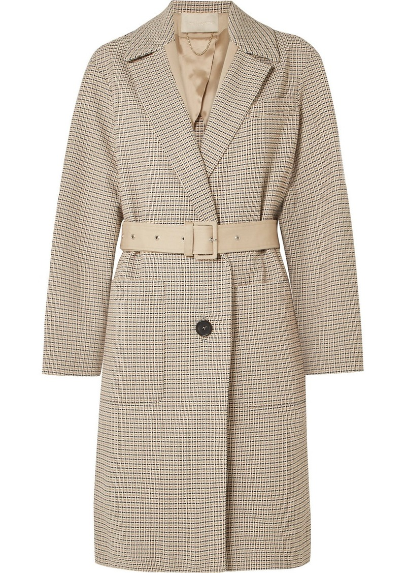 Vanessa Bruno Iambo Belted Cotton-tweed Coat