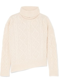 Vanessa Bruno Jaira Cable-knit Wool Turtleneck Sweater