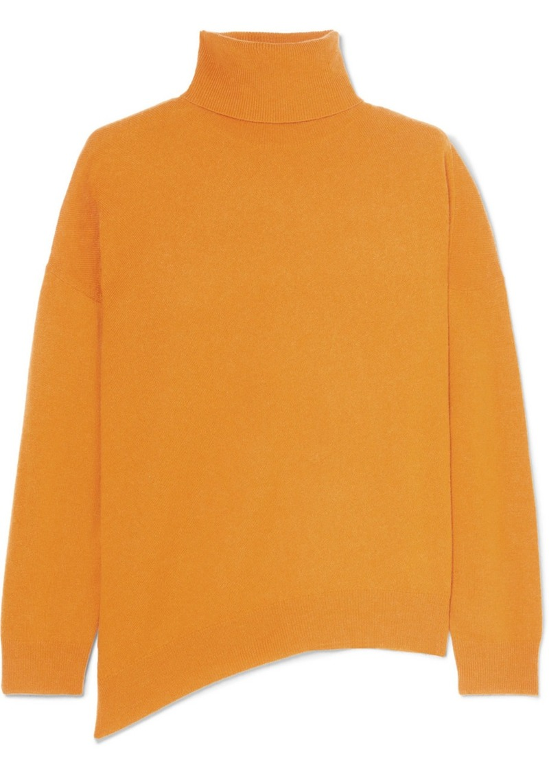 Vanessa Bruno Jamaica Asymmetric Wool And Cashmere-blend Turtleneck Sweater
