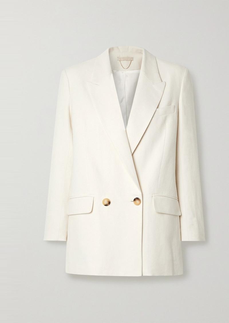 Vanessa Bruno Joe Double-breasted Cotton-blend Blazer