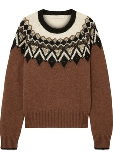 Vanessa Bruno Joleen Metallic Intarsia Alpaca-blend Sweater