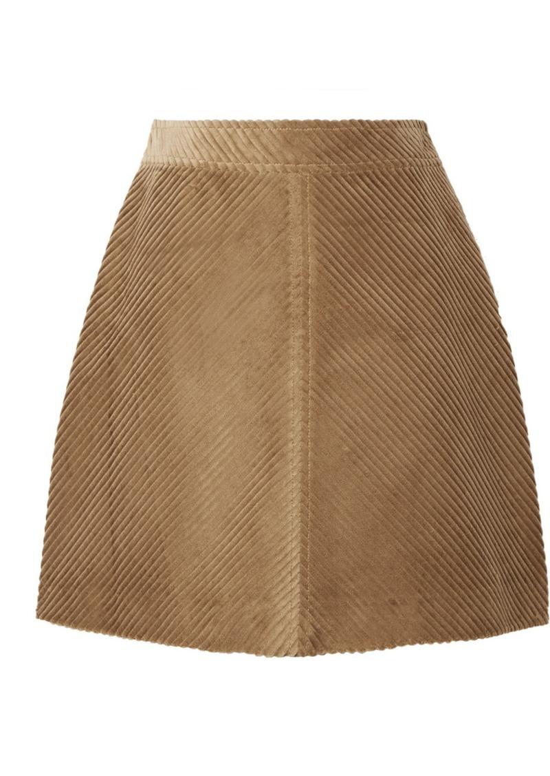 Vanessa Bruno Juna Cotton-corduroy Mini Skirt