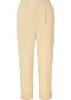 Vanessa Bruno Junie Cropped Crepe Straight-leg Pants