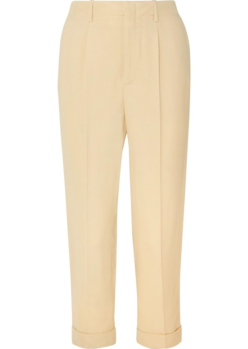 Vanessa Bruno Junie Cropped Crepe Straight-leg Pants