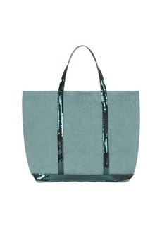 Vanessa Bruno Large Linen and Sequins Cabas Tote Bag