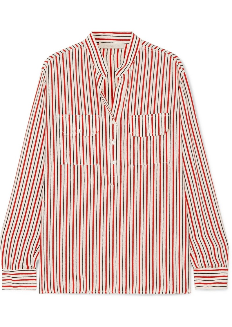 Vanessa Bruno Lauren Striped Silk Crepe De Chine Shirt