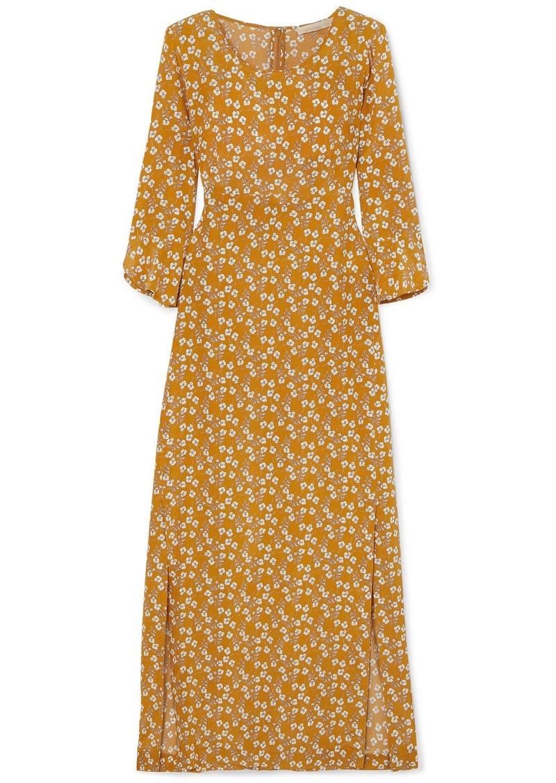 Vanessa Bruno Loreva Floral-print Silk Crepe De Chine Midi Dress