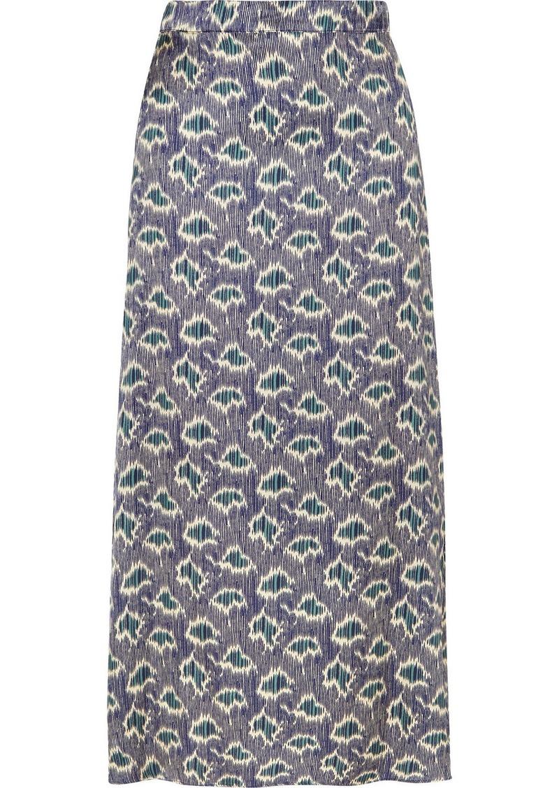 Vanessa Bruno Marie Printed Crepe Midi Skirt