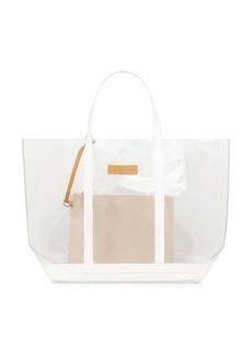 Vanessa Bruno Medium Transparent Canvas and Sequins Cabas Tote Bag