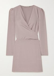 Vanessa Bruno Nehila Wrap-effect Crepe Mini Dress