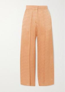 Vanessa Bruno Nilo Satin-jacquard Wide-leg Pants