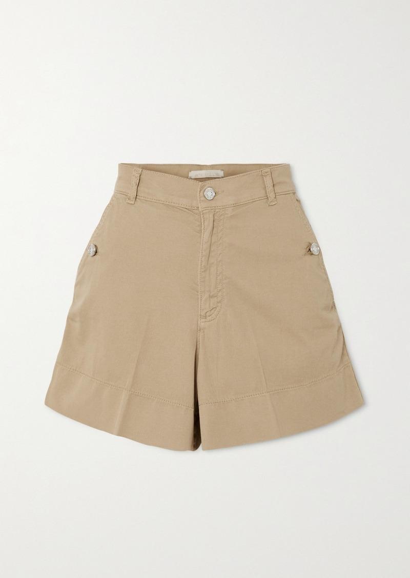Vanessa Bruno Nixia Cotton-blend Canvas Shorts