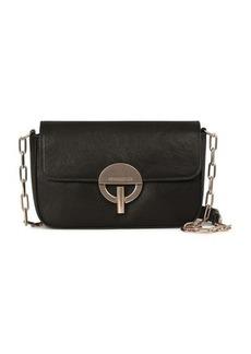 Vanessa Bruno Patent Calfskin Leather Moon Flab Bag
