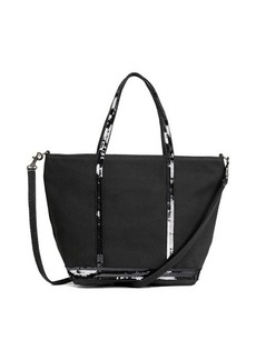 Vanessa Bruno Canvas and Sequins S Cabas Tote