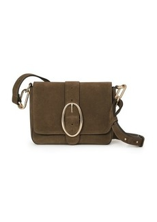 Vanessa Bruno Suede Calfskin Leather Iris Bag
