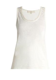 Vanessa Bruno Early frayed-neck linen top