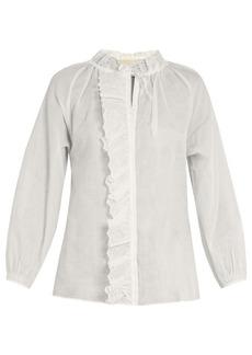 Vanessa Bruno Guylaine broderie-anglaise cotton top