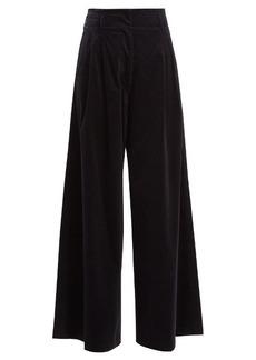Vanessa Bruno Heaston wide-leg stretch-cotton corduroy trousers