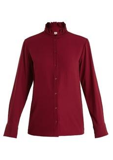 Vanessa Bruno Hemma high-neck crepe blouse