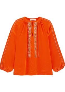 Vanessa Bruno Honor Embroidered Silk Blouse