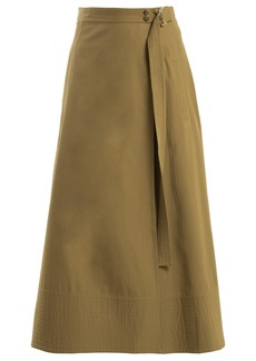 Vanessa Bruno Ikla cotton-blend canvas wrap skirt