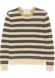 Vanessa Bruno Ilda striped metallic linen-blend sweater