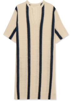 Imeo striped linen-blend dress