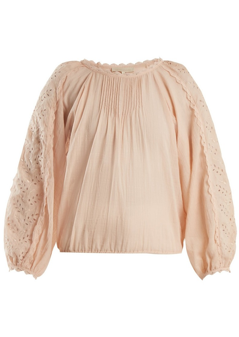 Vanessa Bruno Innocent Broderie Anglaise Cotton Blend Blouse