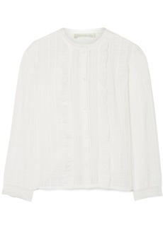 Vanessa Bruno Isadora lace-paneled cotton-blend jacquard blouse