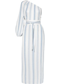 Vanessa Bruno Ivana one-shoulder striped cotton-gauze midi dress