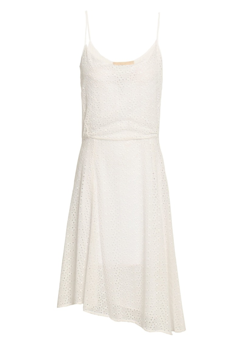 Vanessa Bruno Woman Asymmetric Broderie Anglaise Dress White