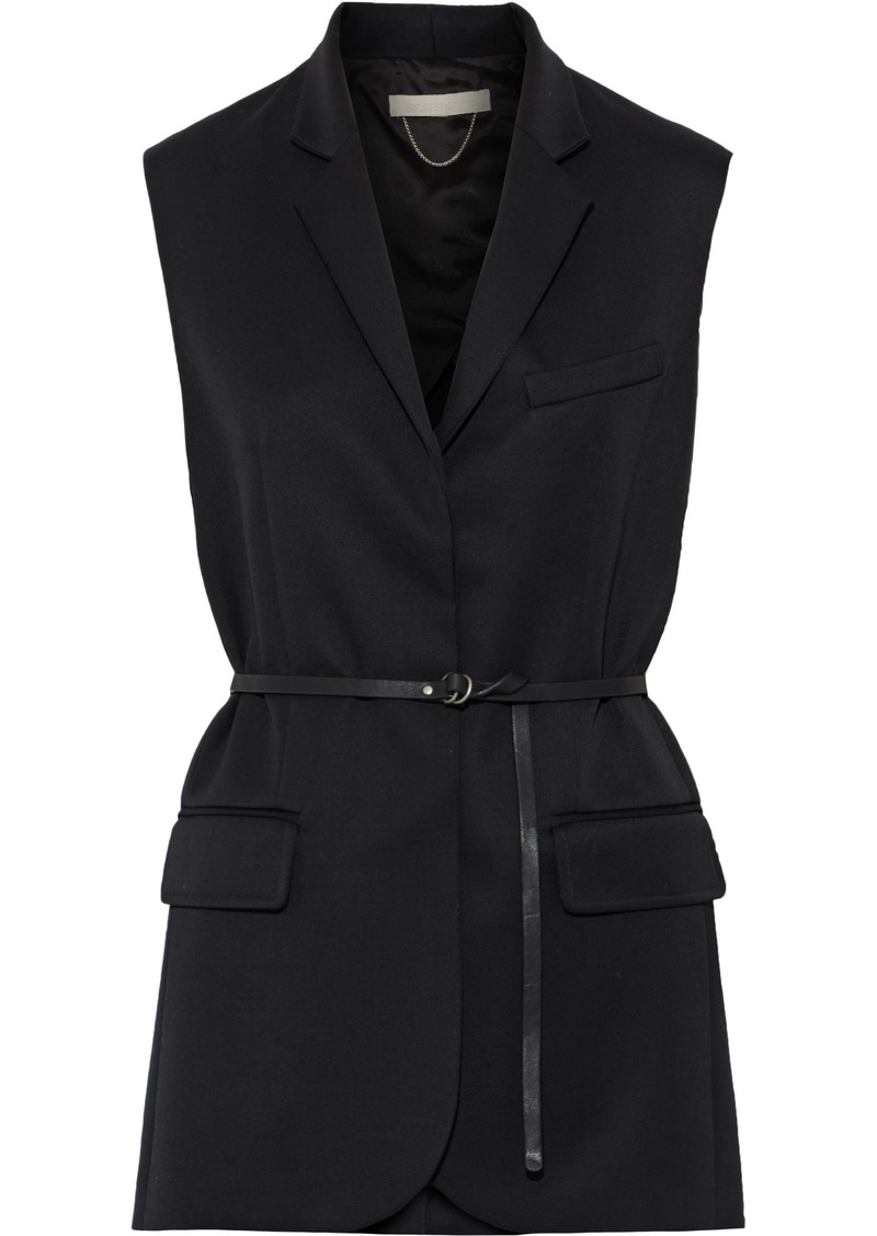Vanessa Bruno Woman Belted Wool-twill Vest Black