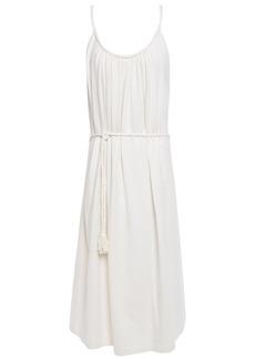 Vanessa Bruno Woman Braid-trimmed Gathered Cotton-jersey Dress Ecru