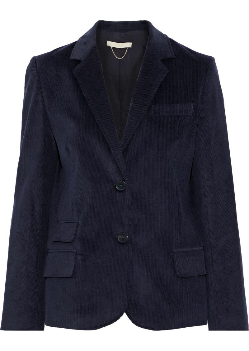 Vanessa Bruno Woman Cotton-blend Corduroy Blazer Midnight Blue