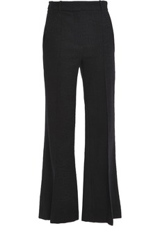 Vanessa Bruno Woman Cotton-blend Tweed Flared Pants Midnight Blue