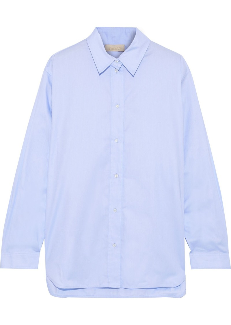Vanessa Bruno Woman Cotton-poplin Shirt Light Blue