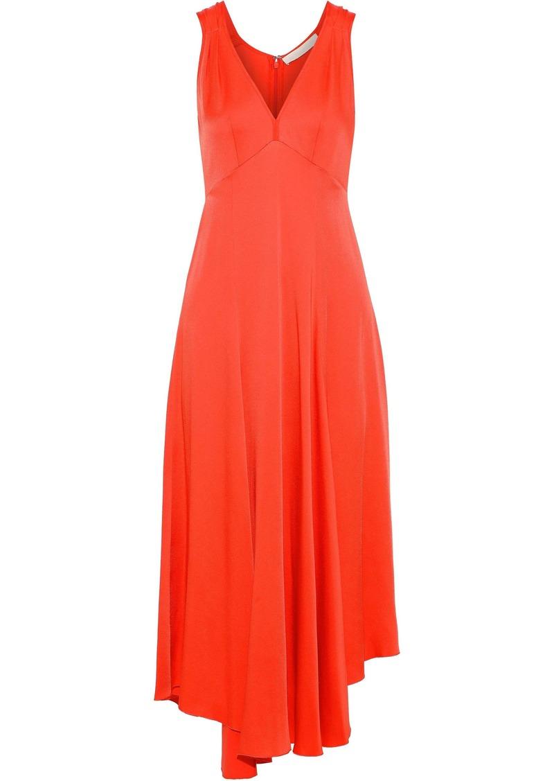 Vanessa Bruno Woman Crepe De Chine Midi Dress Coral