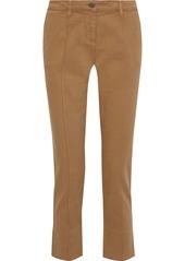 Vanessa Bruno Woman Cropped Cotton-blend Twill Straight-leg Pants Light Brown