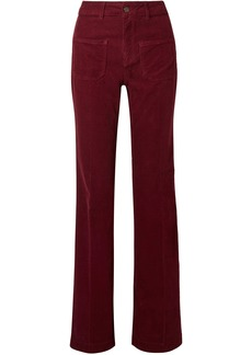 Vanessa Bruno Woman Dompay Cotton-blend Corduroy Flared Pants Brick