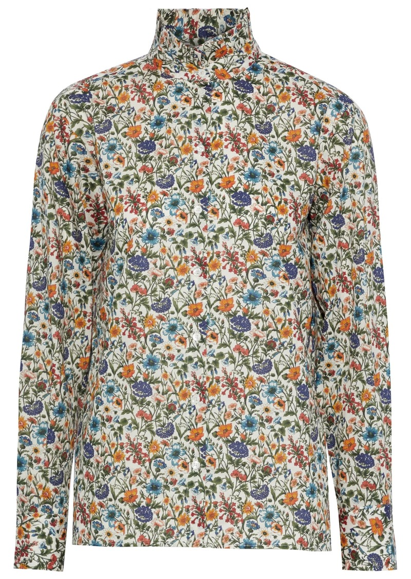 Vanessa Bruno Woman Floral-print Cotton-poplin Shirt Multicolor