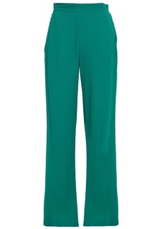 Vanessa Bruno Woman Frayed Crepe Wide-leg Pants Jade