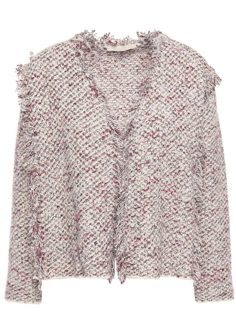 Vanessa Bruno Woman Frayed Tweed Jacket Ivory